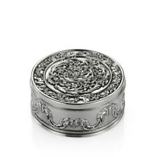 Royal Selangor Celebration Collection Pewter Rose Round Trinket Box Gift