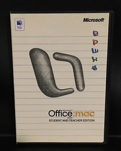 Microsoft Office Mac 2004 Student And Teacher Edition With 3 Keys And Booklet