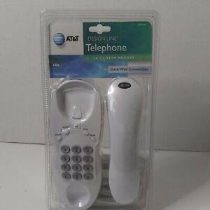 AT&T Design Line Corded Telephone 10 Number Memory White Wall Desk Landline New