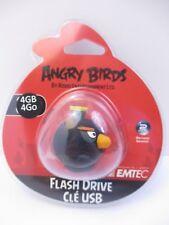 "EMTEC - 4 GB USB 2.0 FLASH DRIVE - ANGRY BIRDS ""BLACK BIRD"" - NEW UNOPENED"