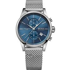 NEW HUGO BOSS HB 1513441 MENS BLUE JET CHRONOGRAPH WATCH - 2 YEAR WARRANTY