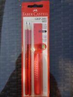 Faber-Castell 218494 4-teilig mit Neon Grün NEU Schulset