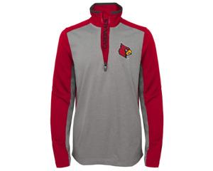 Outerstuff NCAA Kids (4-7) Louisville Cardinals Matrix 1/4 Zip Top, Red