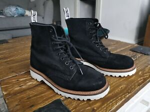 Dr Martens Boots - Womens White and Black size 6