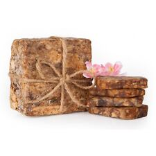 AFRICAN BLACK SOAP ORGANIC UNREFINED PURE RAW 100% NATURAL FROM GHANA 8 OZ