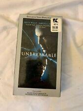 Unbreakable Vhs Video Bonus Edition Bruce Willis Samuel L Jackson Sealed New
