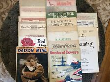 Piano Sheet Music 19 Mixed Lot Vintage/Antique 1898 - 1923