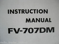 Yaesu fv-707dm (Genuino Manual de instrucciones sólo)........... radio_trader_ireland.