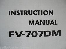 Yaesu fv-707dm (Genuino Manual de instrucciones sólo)........... radio_trader_ireland.