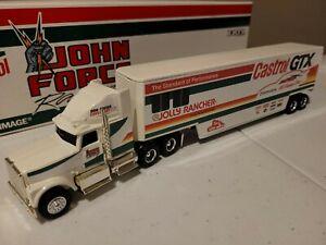 ERTL Castrol GTX John Force Racing Transporter 1/64 z55