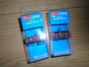 Pair of New Peco PL-10 Point Motors for Hornby OO Gauge Sets