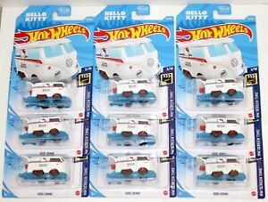 Hello Kitty Kool Kombi - 2021 Hot Wheels [Lot of 9!]