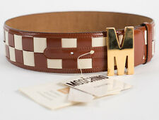 New Moschino Redwall Multi-Color Patent  leather Belt Size EU 40