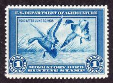 US RW1 $1 Duck Hunting Mint VF OG H SCV $350