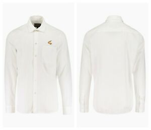 """AUTHENTIC VIVIENNE WESTWOOD ANGLOMANIA WHITE ORB CHEST TWILL SHIRT. MED - 15½"""""""