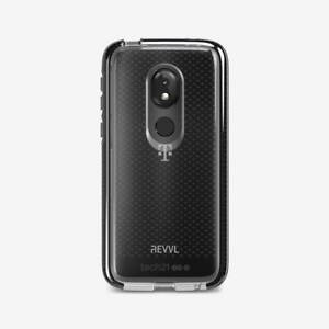 Original Tech21 Evo Check Case For T-Mobile REVVLRY Moto G7 - Smokey/Black