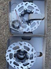 Pair Of Shimano SLX 140mm Centerlock Disc Brake Rotors W Lock Rings