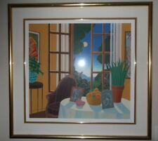 Thomas McKnight signed print rare large low edition gold frame island scene