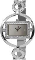 Excellanc Damenuhr Silber Strass Analog Metall Quarz Armbanduhr X152422500012