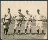 1927 YANKEES INFIELD Group Photo with LOU GEHRIG Vintage Baseball Masterpiece!