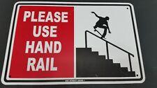 Please Use Hand Rail Skateboarding Skater Metal Sign Funny Skate Street Park  SH