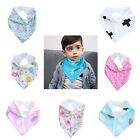 Infant Baby Kids Boys Girls Flower Feeding Saliva Towel Dribble Triangle Bibs