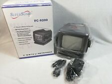 "SUPERSONIC 5 "" PORTABLE B/W TV With AM/FM RADIO 