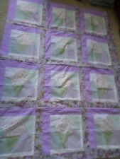 Unfinished Quilt Top (homemade by me) 62x45 I call it the Ice Cream Cone :-}