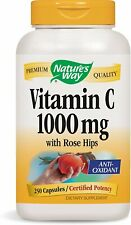 Vitamin C with Rose Hips, Nature's Way, 250 capsules 1000 mg