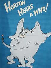 HORTON HEARS A WHO DR SEUSS QUILT PANEL ELEPHANT Book Quotes on COTTON FABRIC