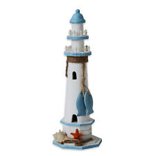 """Anchor Wooden Lighthouse Nautical Themed Rooms Lighthouse Home Decor 14.5""""H"""