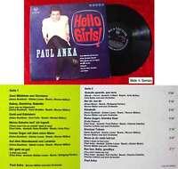LP Paul Anka: Hello Girls! (RCA LSP-10 137) D 1965