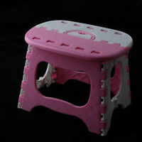 Portable Plastic Folding Step Stool Collapsible Small Foot Stool with Handle