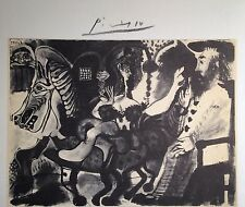 PABLO PICASSO HAND SIGNED SIGNATURE * SERIES: HIS RECENT DRAWINGS * PRINT W/COA