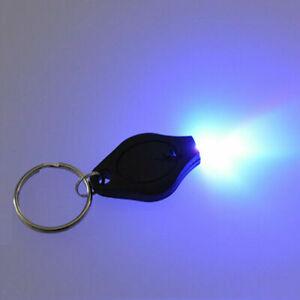 2 x  UV Light Keyring Forged Bank Note Fake Money Detector Polymer ID Checker