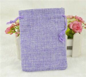 Linen Drawstring Pouch Cotton Packages Gift Wedding Party Christmas smart Bags G