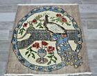 Turkish Bohemian Style Vintage Rug Handmade Authentic Ethnic Carpet 2.5x2.8 ft.