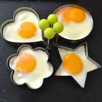 Stainless Steel Omelette Mold Fried Egg Device Creative Thick Pancakes Ring