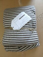 Pottery Barn Teen PBT Tonal Stripe Favorite Tee Bed Dorm Duvet Cover Twin Brown