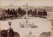 ROMA c. 1875 - 2 Photos Piazza del Popolo Forum Romano Italie - 3