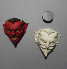 Red Devil Rockabilly Retro Demon Resin Relief Sculpt, Jewelry Crafts goth punk