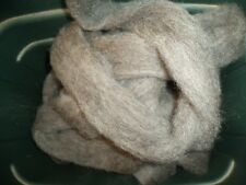 4 oz bags medium gray washed Romney Wool Roving
