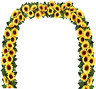Artificial Sunflower Garland Silk Sunflower Vine Flower Garland