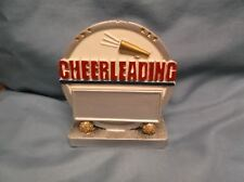 Cheerleading round full color resin award silver and white