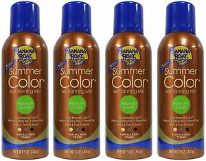 PACK OF 4 Banana Boat Summer Color Self Tanning Mist For All Skin Tones 5 OZ