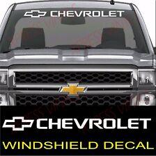 "Chevrolet Windshield Graphic Vinyl Decal Sticker Custom 40"" Vehicle Logo WHITE"