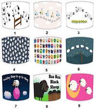 Children`s Baa Baa Black Sheep Lampshades Ideal To Match Sheep Pillow Cases