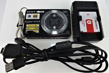 Sony CyberShot DSC-W120 7.2 MP Carl Zeiss Lens Black Digital Camera