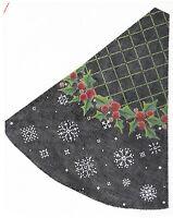 Needlepoint Handpainted Christmas KELLY CLARK Tree Holly PILLAR Tree 12x13