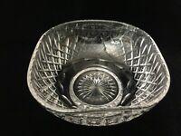 "Stuart Shaftesbury Crystal Square Bowl, 8"" x 8"" x 4"" High, Weight is 3 Lbs 2 Oz"